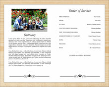 4 Page Elegant Funeral Program Template