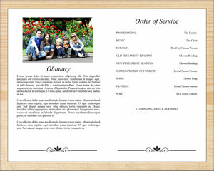 Classic obituary template with editable text and photos