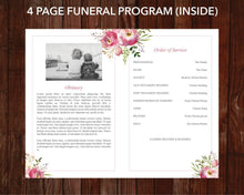 4 page funeral program template