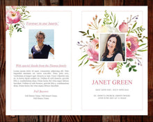 Watercolor 4 Page funeral program template