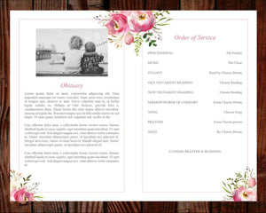 4 page memorial template