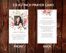Printable prayer card template
