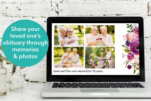 Create a beautiful funeral slide show with this PowerPoint template