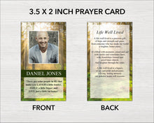 4 Page Forest Funeral Program Template + Prayer Card