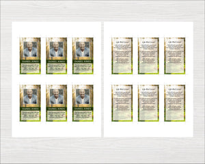 Prayer card template perfect as a funeral keepsake for funeral guests