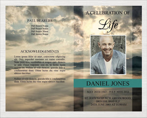 Memorial template ready to edit with Microsoft word and print.