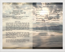 4 Page funeral program template.