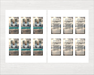 Printable prayer card template ready to edit and print.
