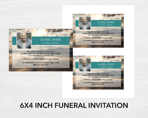 Invitation cards for a funeral