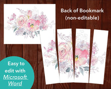 Easy to edit Microsoft Word bookmark template
