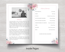 Pink floral celebration of life template