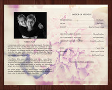 4 Page Pink Petals Funeral Program Template