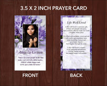 Printable funeral prayer card editable with Microsoft Word