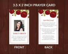 Printable funeral prayer card