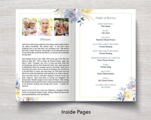 4 Page Spring Burst Funeral Program Template
