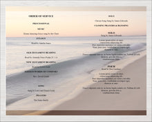 8 Page Beach Wave Funeral Program Template