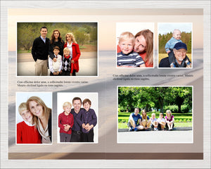 Celebration of life program with editable text and photos