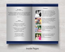 Text and tributes in 8 page funeral program for men