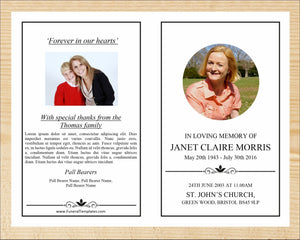 8 Page Elegant Funeral Program Template