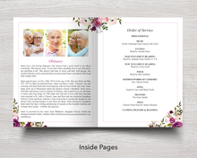 8 Page Floral Display Funeral Program Template (11 x 17 inches)