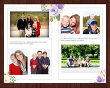 8 page funeral program template with editable text and photos