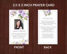 8 Page Lilac Bouquet Funeral Program Template + Prayer Card