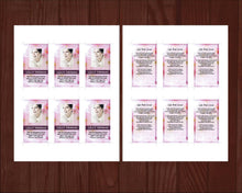 8 Page Pink Blossom Funeral Program Template + Prayer Card