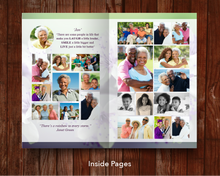 Photo collages inside funeral program template