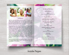Purple peonies obituary template
