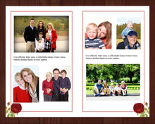 Memorial program template with red roses