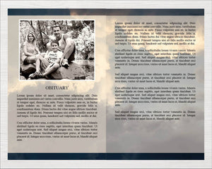 8 page memorial program template
