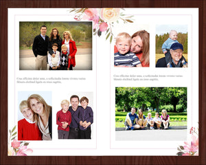 8 page memorial program with editable text and photos