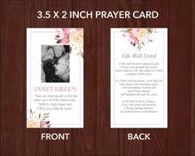 Funeral cards prefect for funeral keepsake