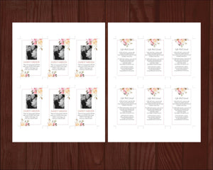 Printable funeral cards for funeral guests