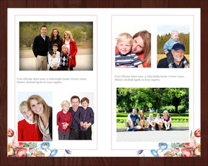 Add photos to the funeral program template in Microsoft Word
