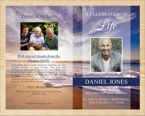 Obituary template ready to edit and print