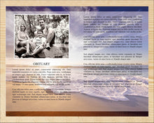 Memorial program template ready to edit and print