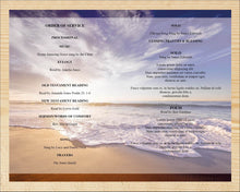 4 page waves beach funeral program