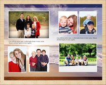 4 Page funeral program template with editable text and photos