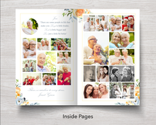 8 Page Yellow Rose Funeral Program Template