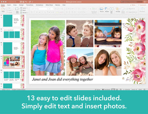 Add photo collages to your funeral slide show