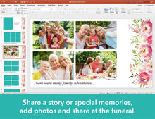 Easy to edit funeral template slides in Powerpoint
