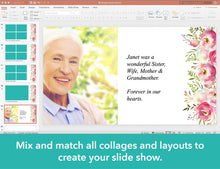 Floral funeral slide show template