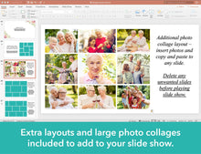 Add photo collages to your funeral slide show template