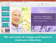 Create photo collages for celebration of life slide show