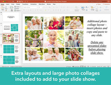 Extra layouts included to add to your funeral slideshow
