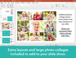 Extra layouts included for your funeral slideshow
