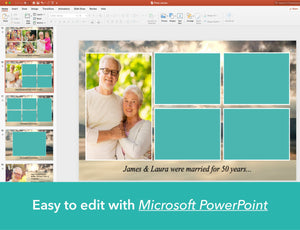 Edit funeral slide show with PowerPoint