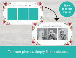 Pink Bloom Funeral Slide Show Template