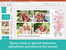 Funeral service presentation on PowerPoint